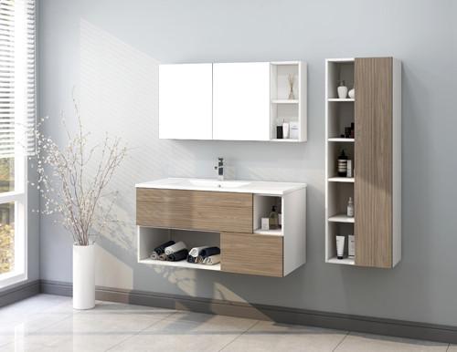 Wholesale Modern MDF Wall Mounted Mirrors Sink Bathroom Vanities MLYJ-34