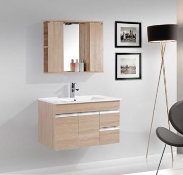 Wholesale Modern Wood Melamine Wall Mounted Mirrored Bathroom Cabinets