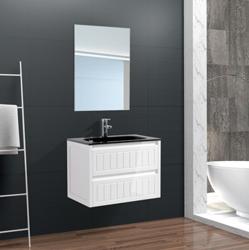 Australian White Wall Mounted PVC Mirrored Bathroom Vanities