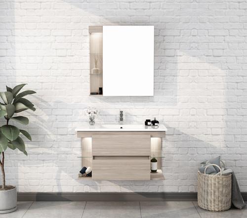 Wholesale Modern MDF Wall Mounted Mirrors Sink Bathroom Vanities MLYJ-27