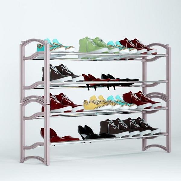 Adjustable Stackable Shoe Rack Storage