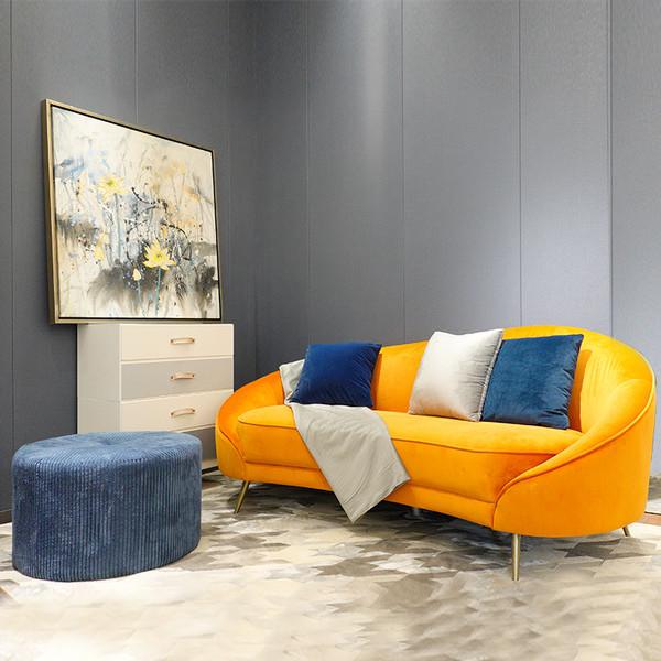 new design curved sofas 3 seater sofa (pantone) NY