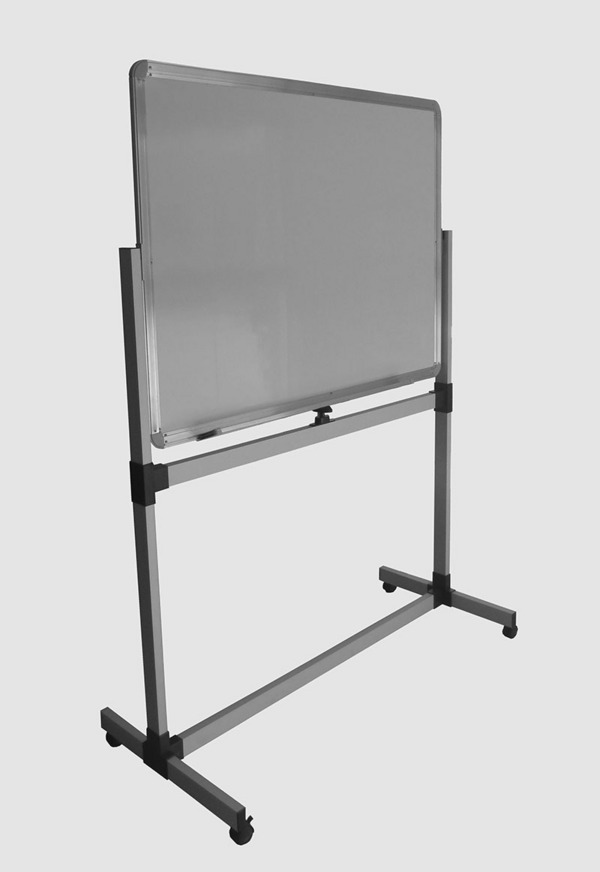 Magnetic white board with bracket