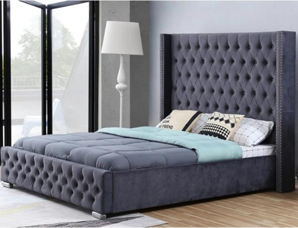 Fabric button beds pantone