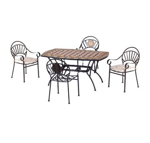 Outdoor Table and Chairs Set Mosaic Table