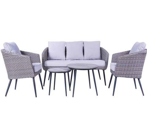 Outdoor Rattan Table and Chairs Set