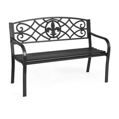 Outdoor Garden Black Bench
