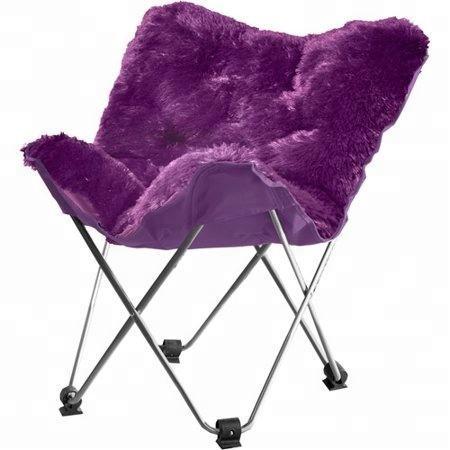 Plush Faux Fur Moon Chair, Butterfly Chair