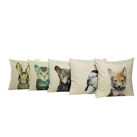 Good Quality Polyester Printing Pictures Lovely Pets Animals Cushion Pillow Covers