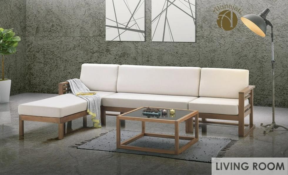 A0112  Modern Minimalist L-shaped Sofa