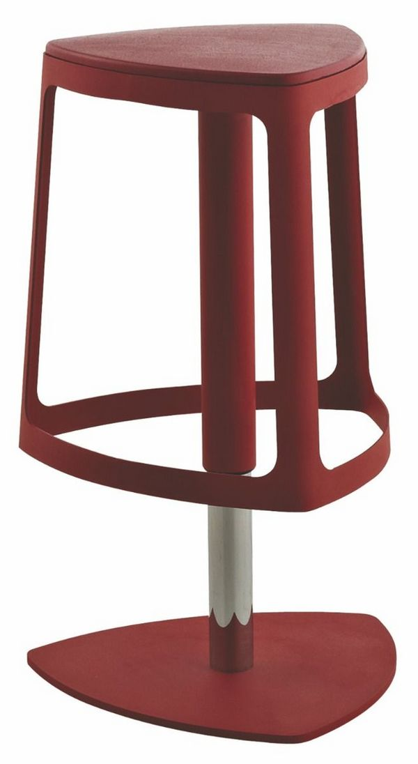 B287 Creative Bar Chair with Rotated and Raised Seat