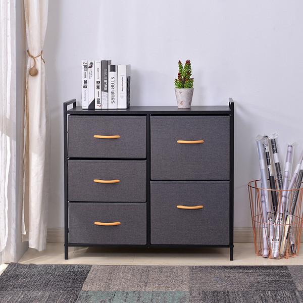 Storage Bedroom Dresser 5 Drawers Storage Cabinet